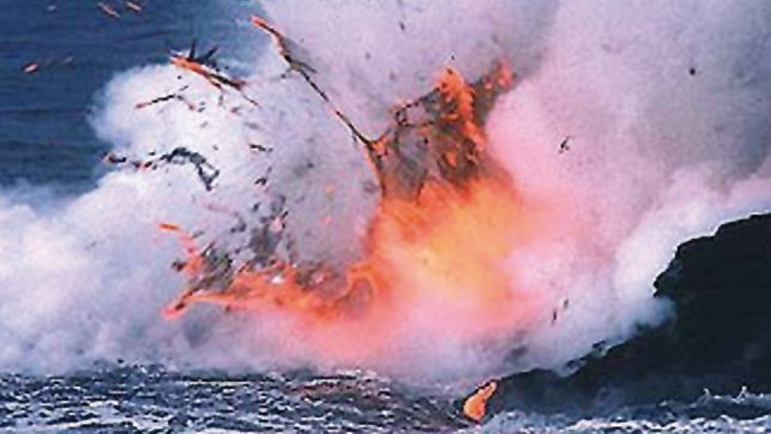 Lava moving into the sea